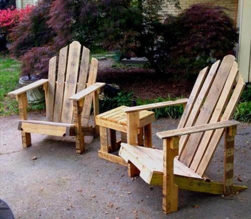 Kerti bútorok - Bútorok raklapból