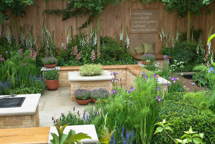 Pictures of beautiful large herb gardens