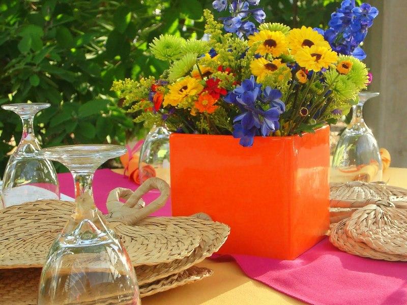 Kerti parti - Asztal dekoráció